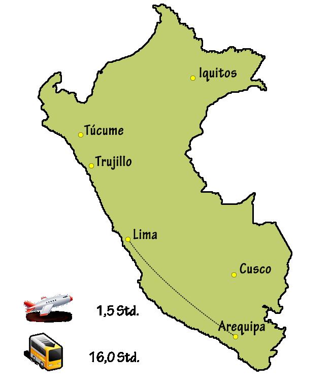 Peru Anreise Arequipa