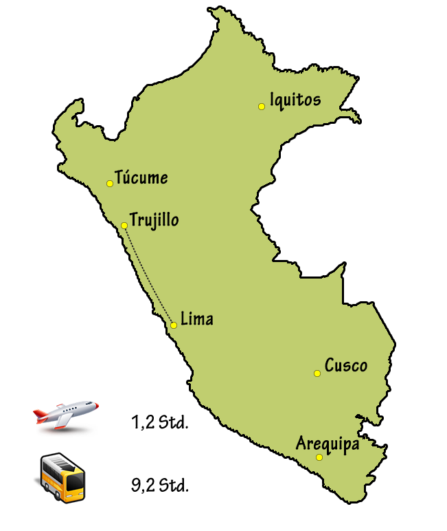 Peru Anreise Lima Trujillo